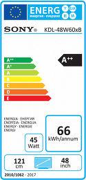 Sony KDL48W605 Etiquette énergétique