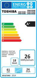 Toshiba 24D1433 / 24D1434 Etiquette énergétique