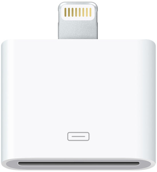 Adaptateur Apple 30 broches vers Lightning Vue principale
