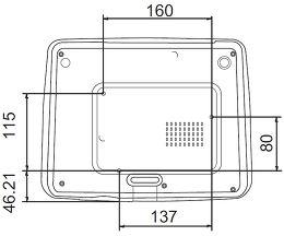BenQ W1070 Vue schéma dimensions
