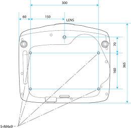Epson EH-TW6100W Vue schéma dimensions