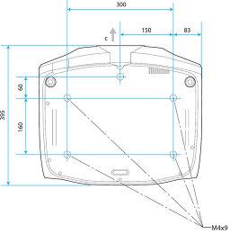 Epson EH-TW7200 Vue schéma dimensions