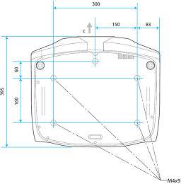 Epson EH-TW9200 Vue schéma dimensions