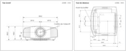 Sony VPL-VW320ES Vue schéma dimensions