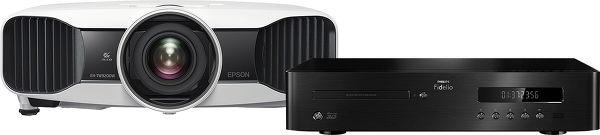 Epson EH-TW9200W + Philips BDP9700 Vue principale