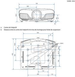 Epson EH-TW9300 Vue schéma dimensions