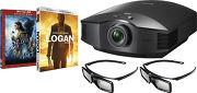 Sony VPL-HW45ES Noir + TDGBT500 + Blu-ray La Belle et la Bête 3D et Logan 4K