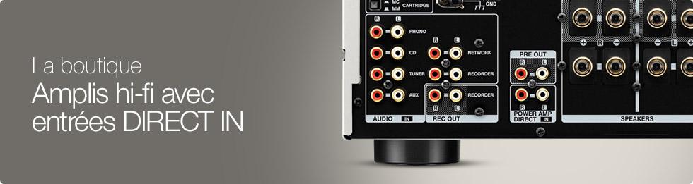 Amplis hi-fi avec entrées MAIN IN/DIRECT IN