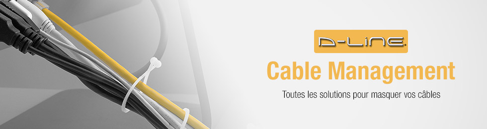 D-line : organiser, masquer, ranger ses câbles audio et vidéo