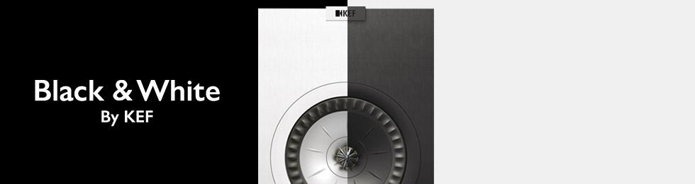 Enceintes KEF Black & White