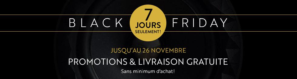 BlackFriday: 4jours seulement! Du 23 au 26novembre, d'importantes promos exclusives et la livraison gratuite sur Son-Vidéo.com!