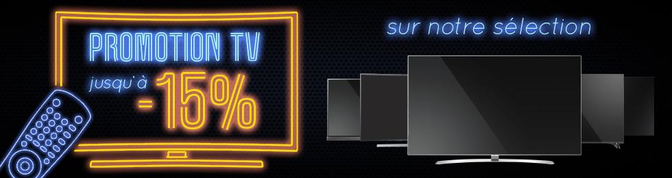 Promotion TV : jusqu'à -15%