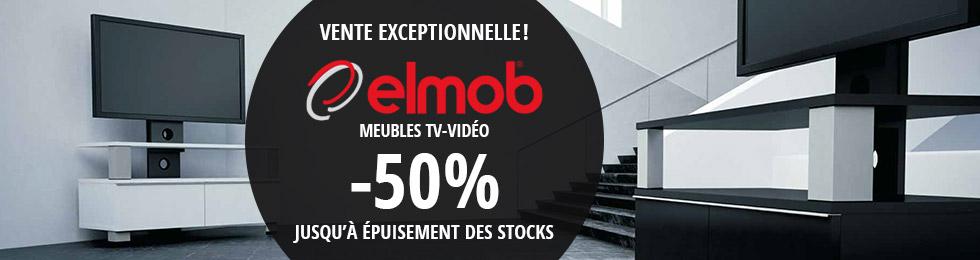 Meubles TV-Vidéo Elmob : stock limité -50%