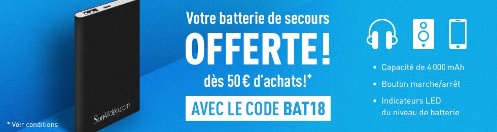Batterie de secours offerte