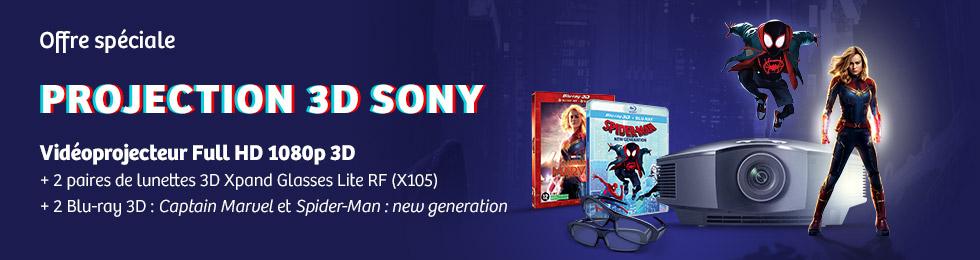 Offre spéciale projection 3D Sony