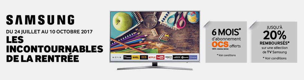 Offre TV Samsung : jusqu'à 20% remboursés