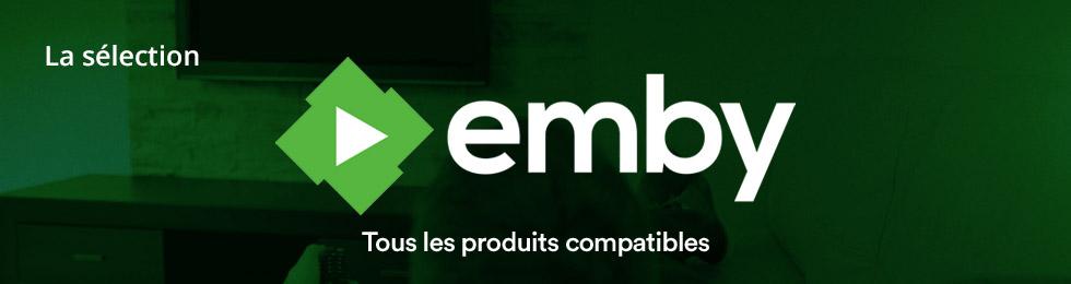 Emby : tous les produits compatibles