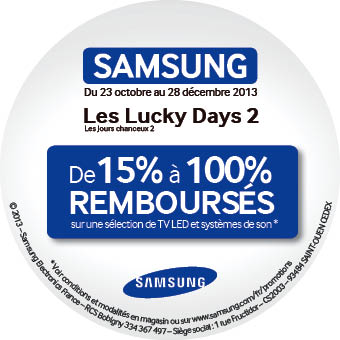 Offre Samsung Lucky Days