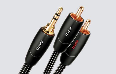 Câbles audio analogiques mini-jack vers RCA
