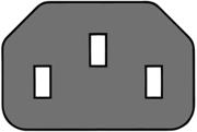 Schéma connecteur câble d'alimentation IEC C13/C14