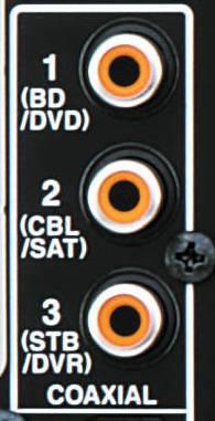 Connecteur audio numérique coaxial
