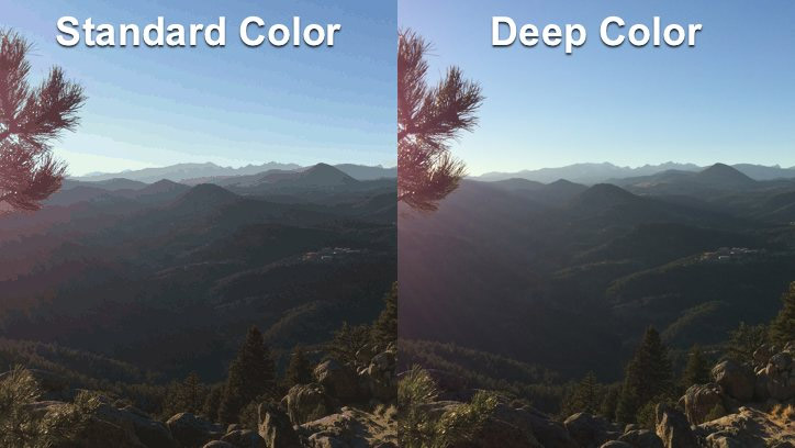 Standard Color et Deep Color