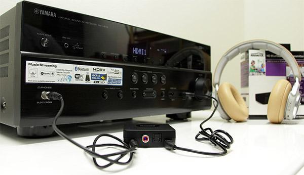 L'émetteur Bluetooth relié à l'ampli