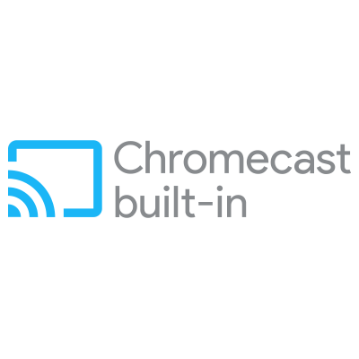 Le logo Chromecast built-in
