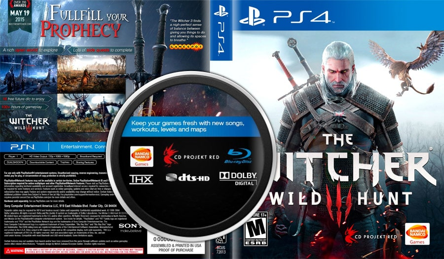 The Witcher 3 - Bande son Dolby Digital et DTS-HD