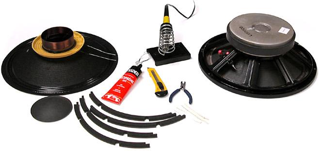 Matériel nécessaire pour remplacer la membrane d'un haut-parleur