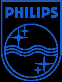 Le logo d'époque de la marque Philips.