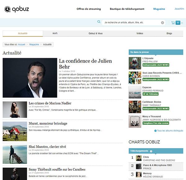 Qobuz Magazine Fil Actualité