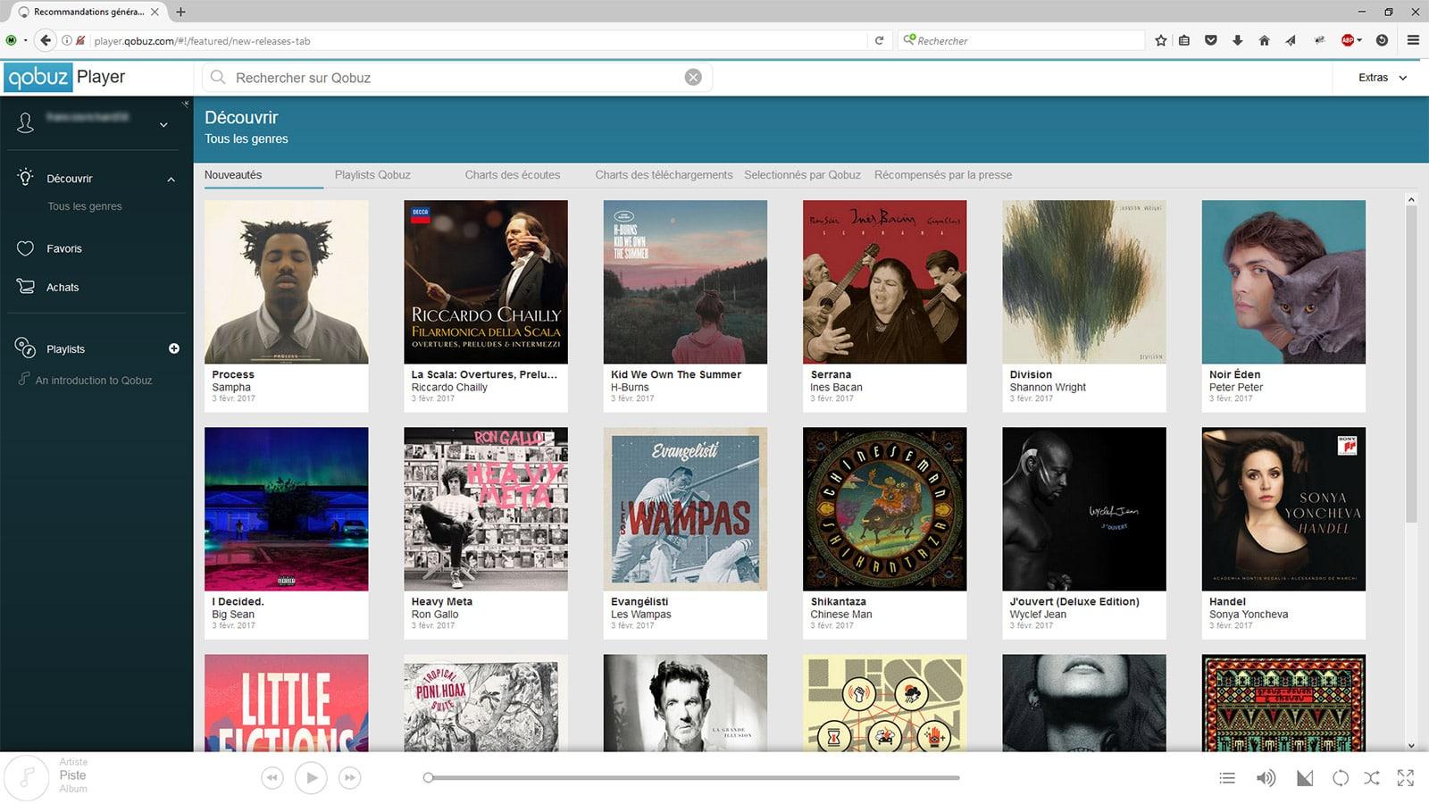 Qobuz - Lecteur audio en ligne