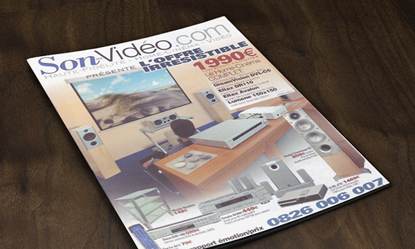 Couverture du premier catalogue papier de Son-Vidéo.com.