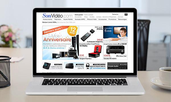 Page d'accueil de la version 2 du site Son-Vidéo.com.