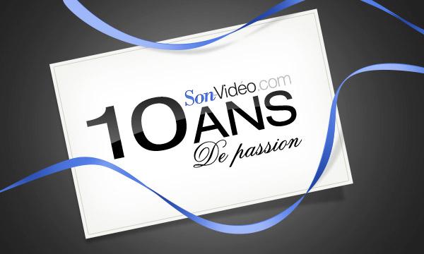 Illustration célébrant les 10 ans de Son-Vidéo.com.