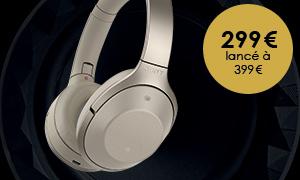 Le casque Bluetooth SonyMDR-1000X à 299€ (lancé à 299€)!