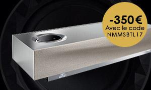 -350€ sur l'enceinte sans fil Naim pour Bentley mu-so avec le code<strong>NMMSBTL17</strong>!