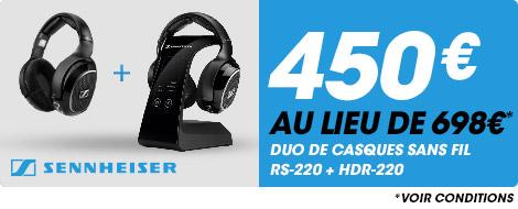 450€ au lieu de 698€ duo de casques sans fil RS-220 + HDR-220