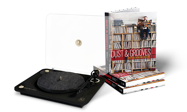 Dust & Grooves: Adventure in Record Collecting et platine Elipson Alpha 50.