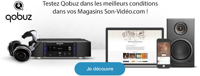Testez Qobuz dans les meilleurs conditions dans vos Magasins Son-Vidéo.com ! Je découvre.