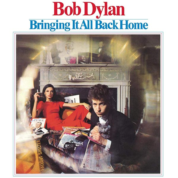 Couverture de l'album de Bob Dylan - Bringing It All Back Home.