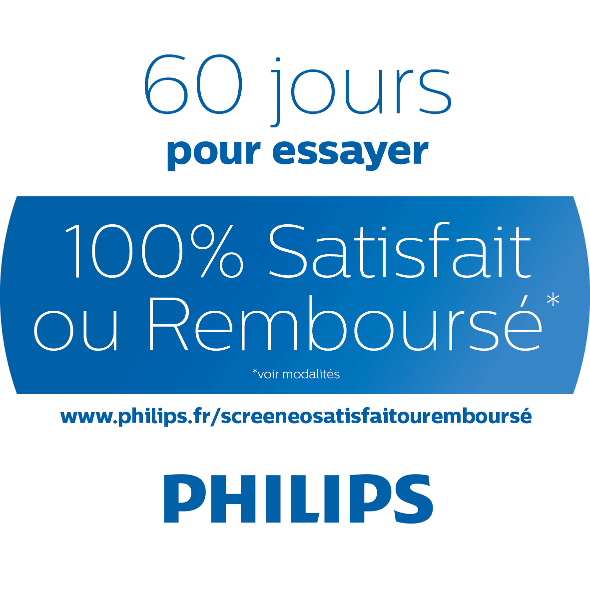 Conditions de l'offre de remboursement Philips Screeneo