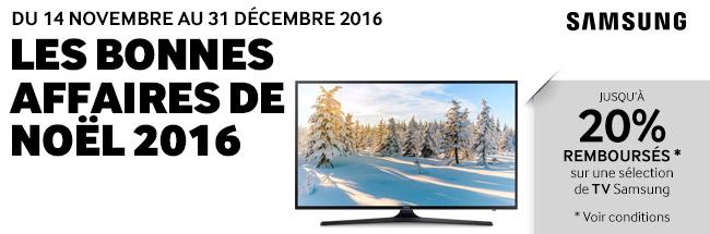 Offre de remboursement Samsung - Les Bonnes Affaires de Noël