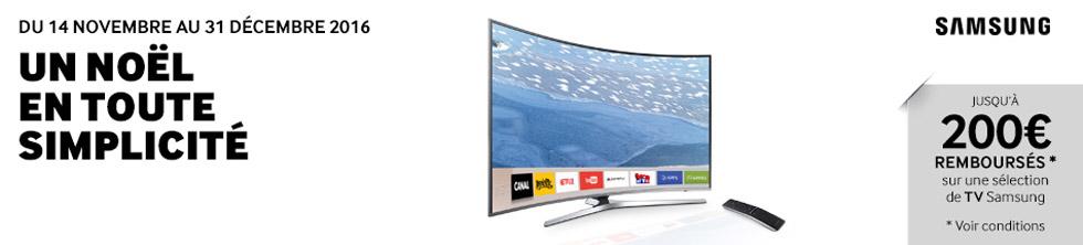 Offre Samsung Noël en toute simplicité