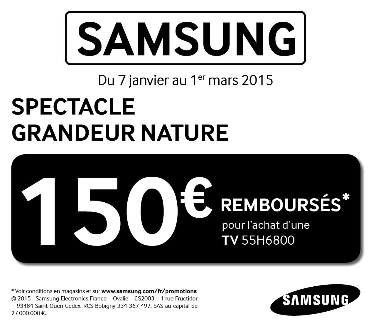 Conditions de l'offre de remboursement Samsung