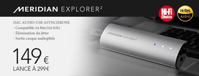 Meridian Explorer 2 : DAC Audio USB 24 bits / 192 kHz