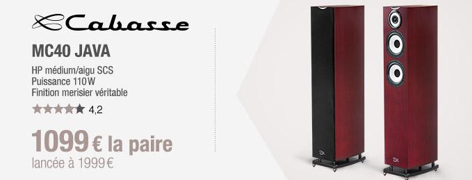 Cabasse MC40 Java : 3 voies, 110 W, finition bois v�ritable