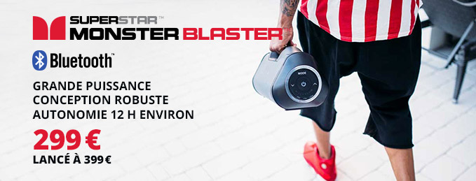 Monster Superstar Blaster : Basses puissantes et diffusion 360°