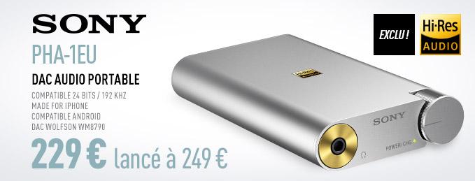 Sony PHA-1EU : DAC Audio portable Hi-Res Audio